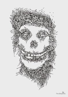 misfits02 #punk #band #rock #misfits #illustration #music #organic