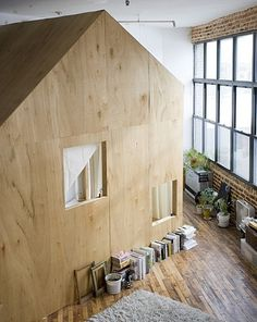 FFFFOUND! #wood #interior #cabin #loft