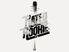 Dribbble - Rated Rookie by Bobby McKenna #bobby #mckenna #rookie #design #bat #rated #logo