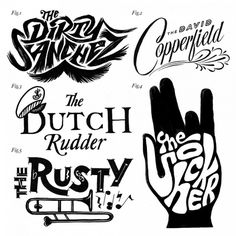 Friends of Type #lettering #white #black #and #hand #typography