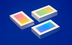 Irradié ID #gradient #holographic #business cards
