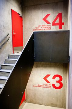 Wayfinding Westerdals on Behance #finding #way #sign #signage
