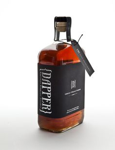 Dapper Straight Bourbon #logo #branding #identity #packaging #bourbon