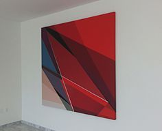 Lost Highway 6'x6' #los angeles art #geometry #geometric #lobby art