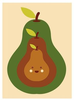 FFFFOUND! | Pears with me | Flickr - Photo Sharing! #illustration