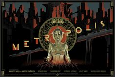 Laurent Durieux #cityscape #robot #fiction #metropolis #vintage #poster #film #science