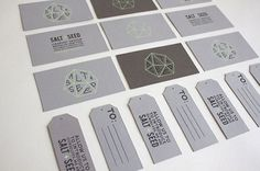 Salt + Seed Business Cards - FPO: For Print Only #triangle #paper #cards #saltseed