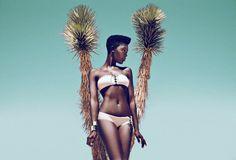tumblr_mx97wvqZLG1sbcy9ho1_1280.jpg (1024×698) #woman #black #photography #bikini #cactus #desert