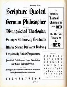 American Text type specimen #type #specimen #typography