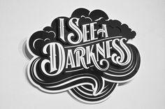 #typography #3d #black #white