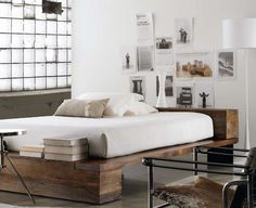 This is cool. Bed + window + chair = love #window #bedroom #bed #massive