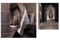 Model of Hurva synagogue interior, Louis Kahn #kahn #louis