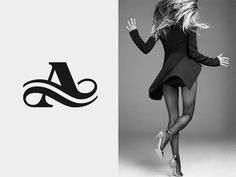 A by José #lettering #design #type #monogram #fashion #logo