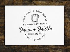 Grain And Gristle #lettering #hand #vintage #typography