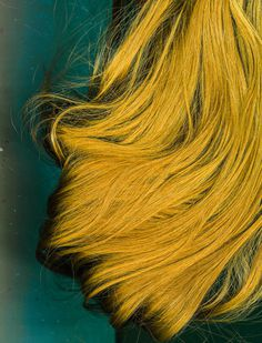 #scan #slit-scan #slitscan #slit scan #scanner #hair #yellow