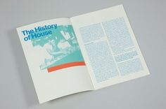 History Of House on the Behance Network #robert #house #print #lomas #music #typography
