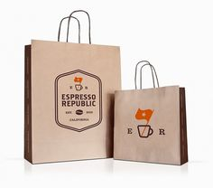 Espresso Republic identity by Salih Kucukaga » Retail Design Blog #bag #branding