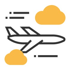 See more icon inspiration related to plane, travel, flight, airport, transport, airplane, aeroplane and transportation on Flaticon.