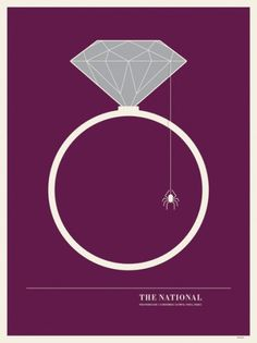 JASON MUNN - The National - Poster #munn #jason #gig #design #the #illustration #poster #national