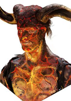 http://www.josewilson.portfoliobox.me/ #flames #lava #burning #devil #illustration #demon #fire #horns #painting #hot
