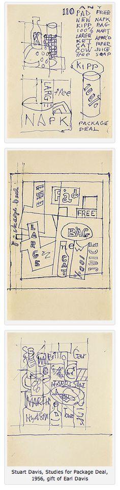 Stuart Davis #drawings #artist #american