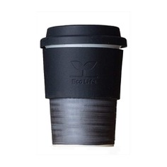 This reusable Porcelain Travel Cup will keep you well-caffeinated on the go! Made from ceramic, it won't impart any flavor to its contents, and it's easy to clean. It resembles the shape of a disposable paper cup yet feels like a real coffee mug. It also comes with a lid and sleeve made from silicone to protect your hands from hot beverages. Crafted in Japan.