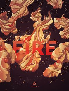 Fire #typography #abstract #fire #elements #theluminarium