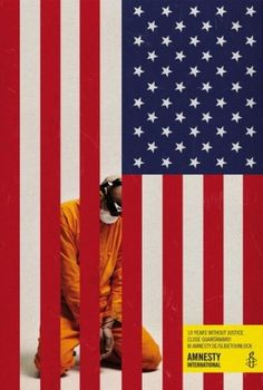 Amnesty International: Unlock the truth about Guantánamo | Ads of the World™ #print #america #flag #guantanamo