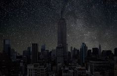 Cohen with dark New York landscape photography