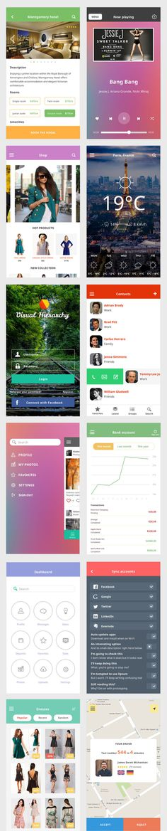 Free Ace iOS8 Mobile UI Kit PSD