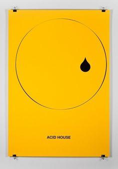 Music Genre Posters – Graphic Design inspiration on MONOmoda #music #yellow #genre posters #acid house