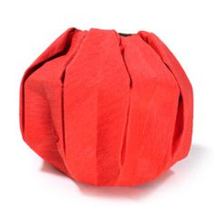 How to make an origami pumpkin (http://www.origami-make.org/howto-origami-thanksgiving.php)