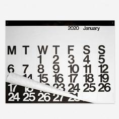 Massimo Vignelli The Stendig Calendar 2020 https://www.shop-rikiki.de/en/Stationery/The-Stendig-Calendar-2020.html