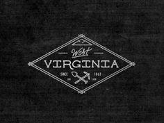 West Virginia #logo #vintage #branding