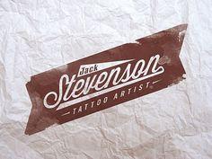 JACK STEVENSON #banner #script #rough #tattoo #tattoos #logo #paper