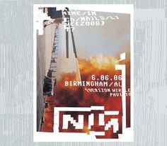 Ian Walsh Design #nin #republic #nine #designers #design #inch #glitch #poster #nails