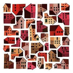 Emmanuelle.Walker #illustration #houses #neighborhood #emmanuelle walker