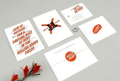 Design Work Life » An Aparment One Wedding #suite #orange #invitations #graphics #wedding #typography