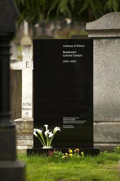FormFiftyFive – Design inspiration from around the world » Blog Archive » Designer headstones #headstone #saville #tony #wilson #grave #kelly #peter #ben
