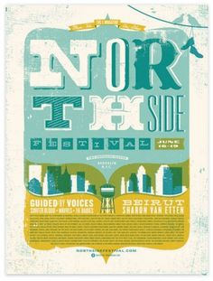 design work life » Two Arms: Northside Posters #illustration #texture #typography