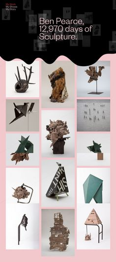 Ben Pearce Art sculptures abstract exhibition webdesign Mindsparkle Mag designblog award site of the daywebsite inspire inspiration graphi