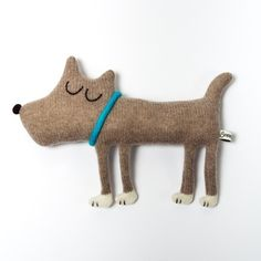 Hugo the Dog Lambswool Plush In stock by saracarr on Etsy #wool #plush #dog