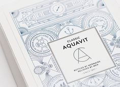 Classic Aquavit by Nina Brandt #brandt #packaging #design #graphic #cover #nina #illustration