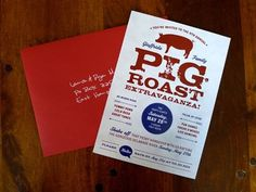 FFFFOUND! | design work life » Lindsay Giuffrida: Pig Roast Invitations #graphic design