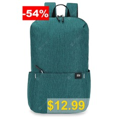 Xiaomi #Trendy #Solid #Color #Lightweight #Water-resistant #Backpack #- #GLACIAL #BLUE #ICE