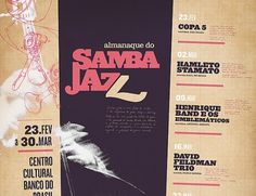 Samba-Jazz on the Behance Network #handwriting #jazz #samba #vintage