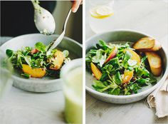 peach & mache salad . sprouted kitchen