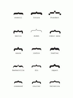 The League's Typelog #mustache #typography
