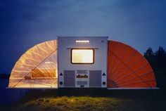 urban camping: creative art tents open in amsterdam #white #red #box #outside #camp #right