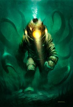 The Art Of Animation, Patrick Reilly #illustration #ocean #underwater #diver #suit #under the sea #patrick reilly